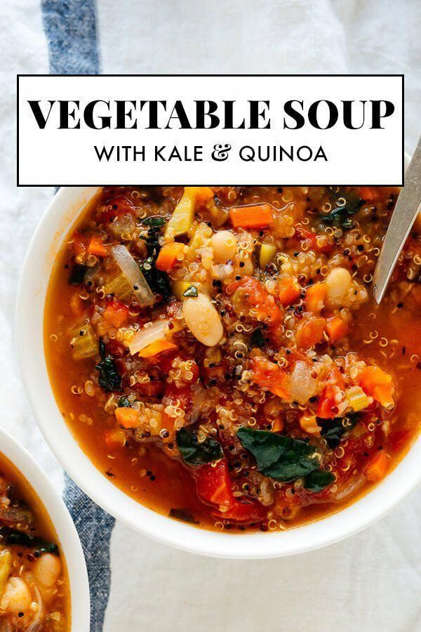 This hearty vegetable soup recipe is easy to make and so good for you, too! Warm up with a bowl ton