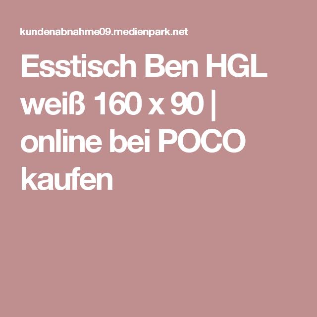 Esstisch Ben HGL weiß 160 x 90 online bei POCO kaufen