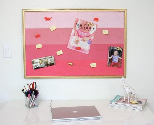 10 ways to update decorate a basic cork board cork for How to decorate a cork board