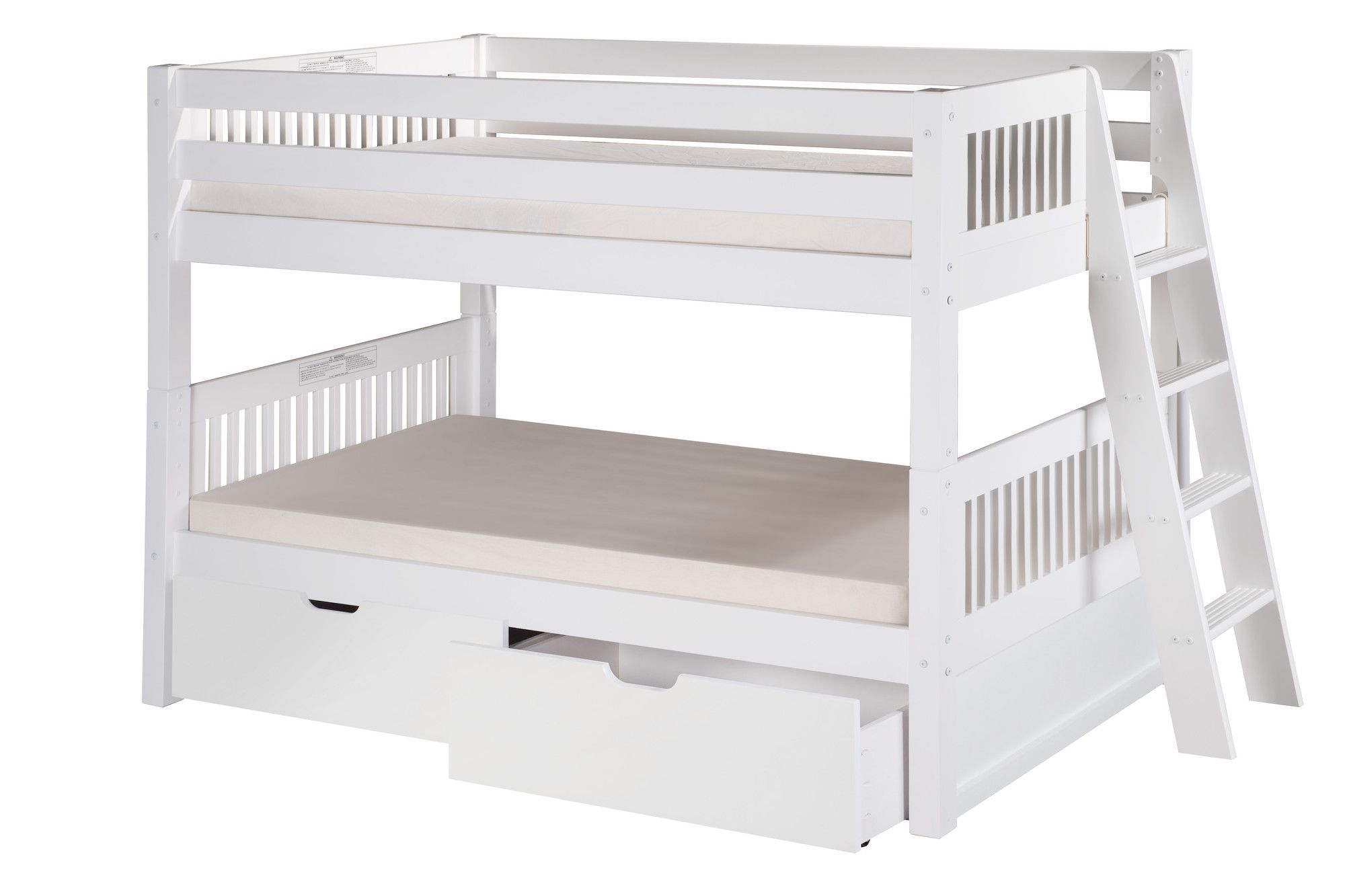 Loft bed ladder ideas  Camaflexi Low Bunk Bed with Lateral Angle Ladder and Drawers