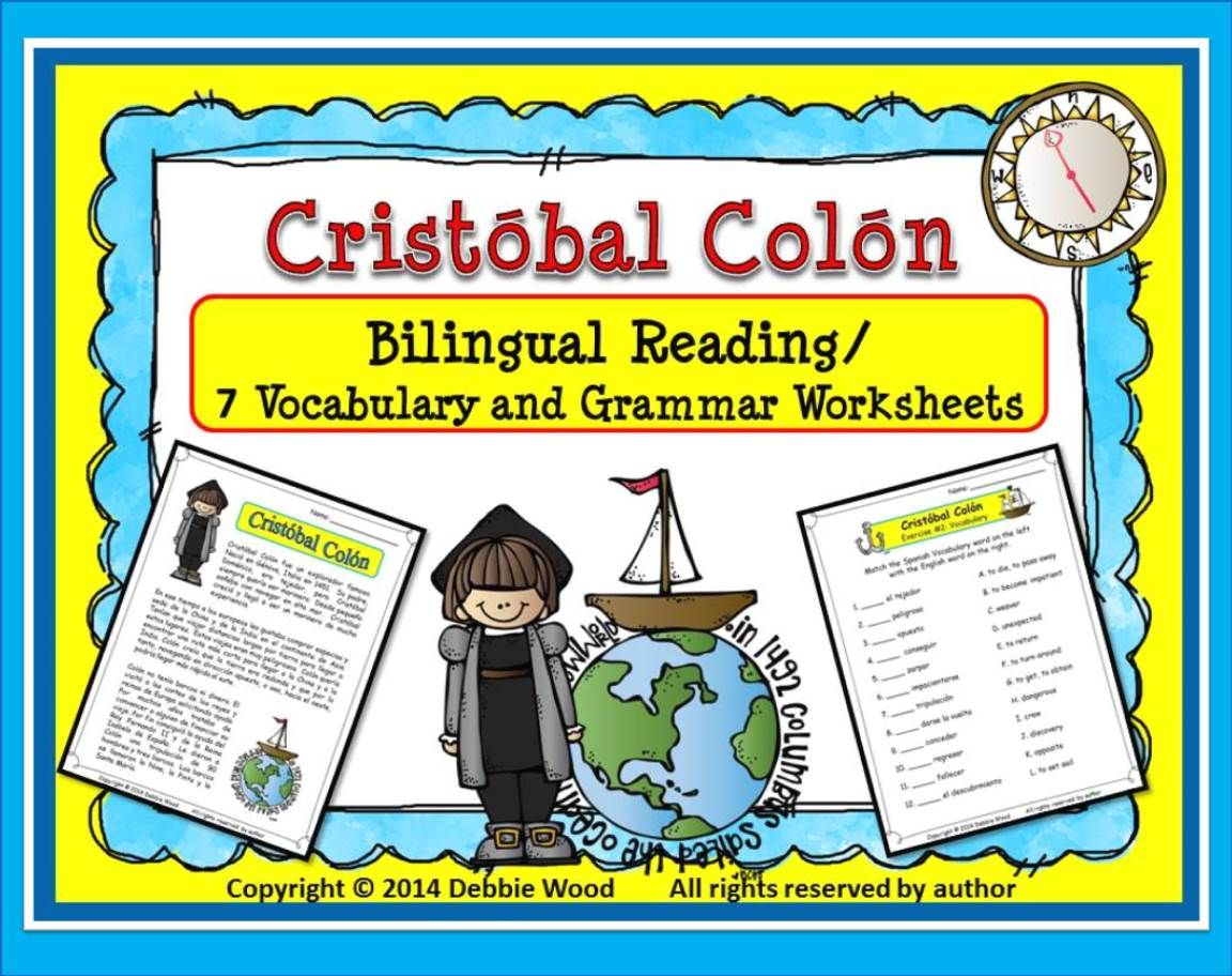 Spanish Christopher Columbus (Cristobal Colon) Bilingual Reading ...