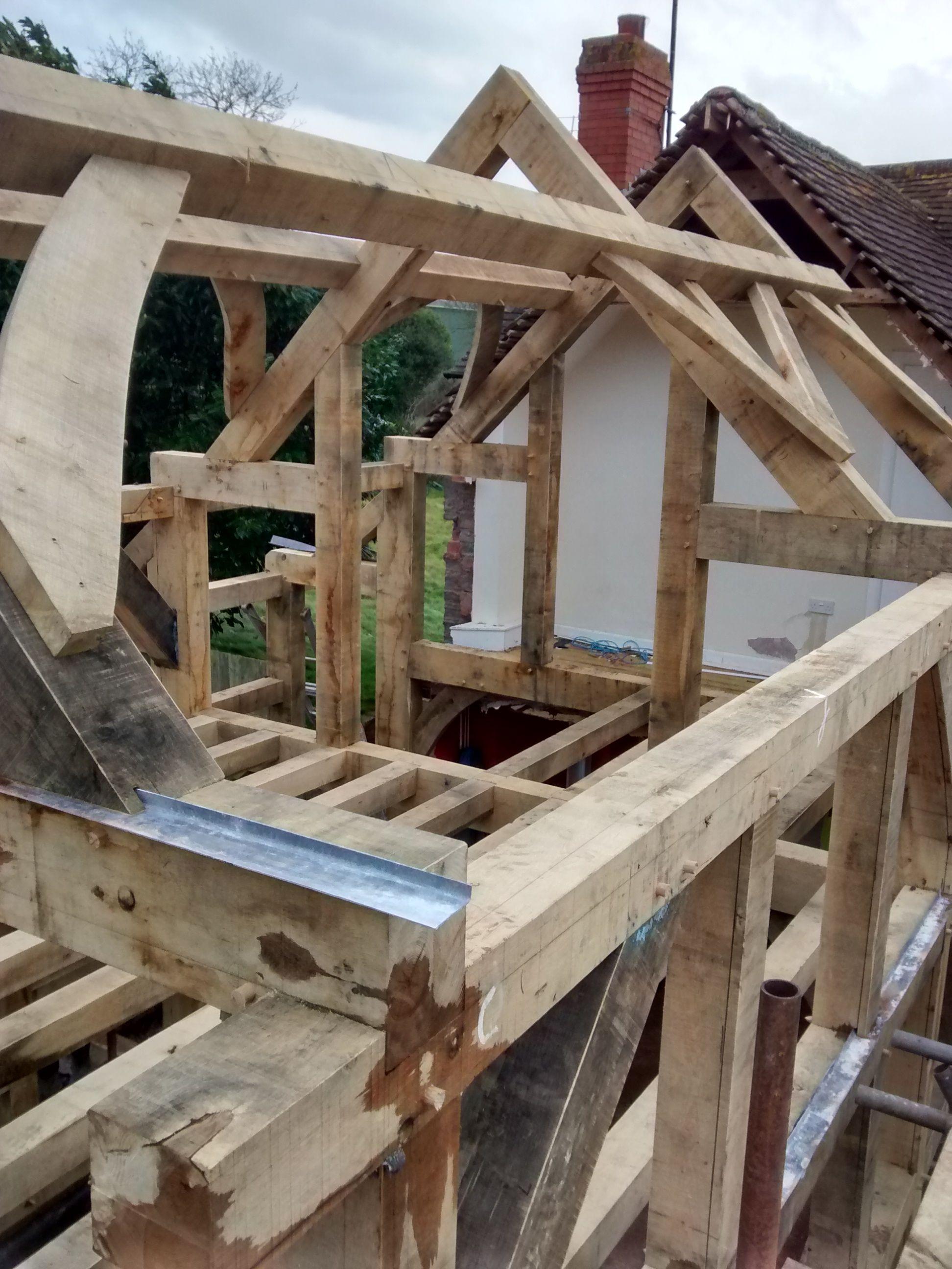 Oak Framed Extension By Castle Ring Oak Frame #Herefordshire #Timberframe