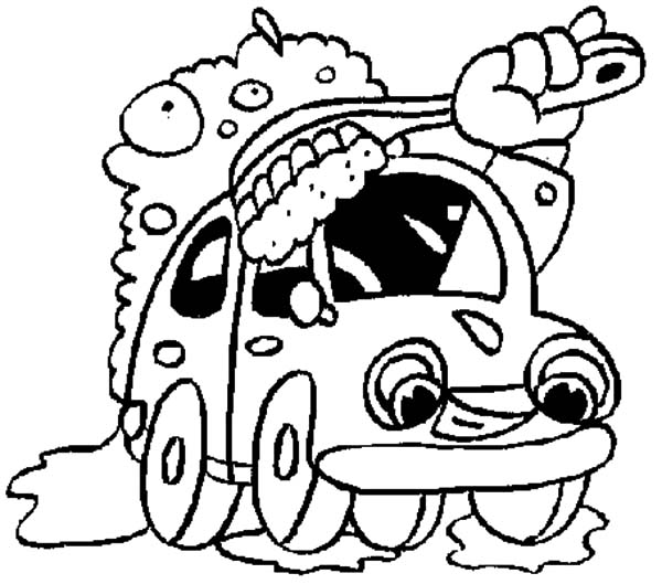 Giant Brush Car Wash Coloring Pages Best Place To Color