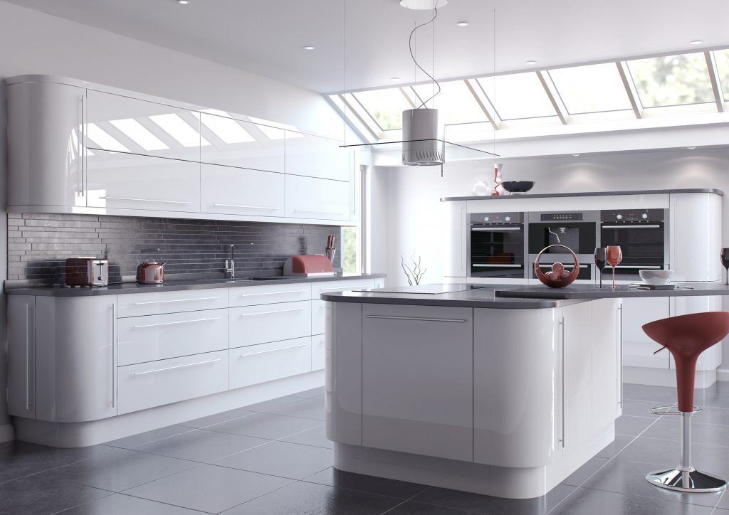 Simple Vivo Glossy Kitchen Worktops And Kitchen Doors With Images