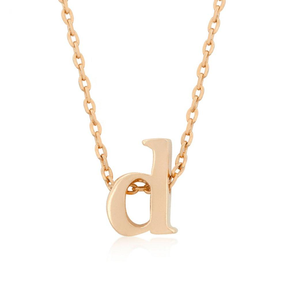 Rose gold initial d pendant products pinterest products
