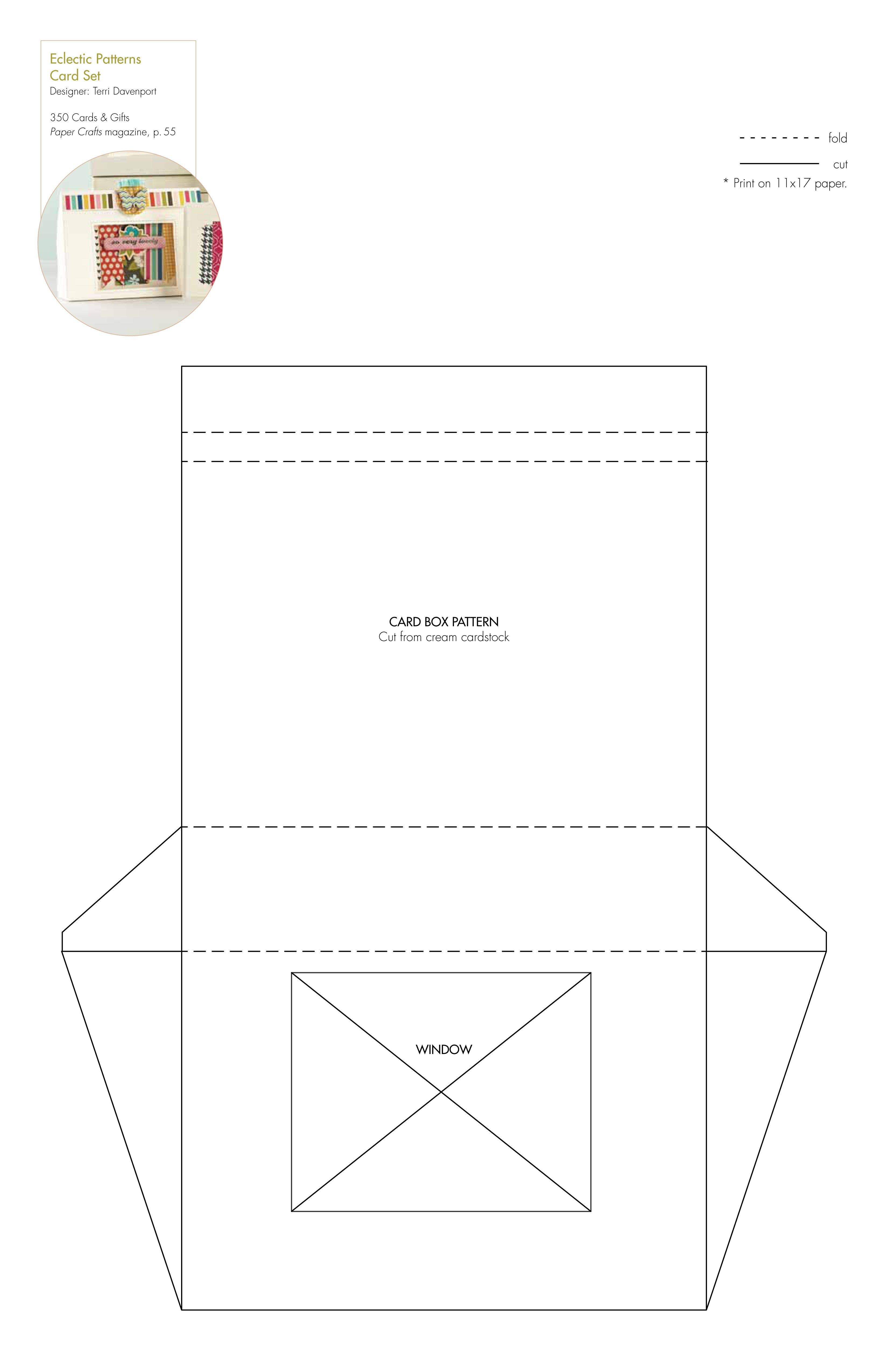 Free card box template/pattern (+many other free templates ...