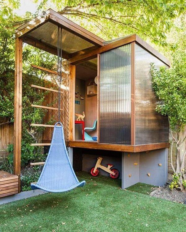 23 Awesome Kids Garden Ideas With Outdoor Play Areas Pinner Girl Spielbereiche Im Freien Hinterhof Spielplatz Garten Spielplatz
