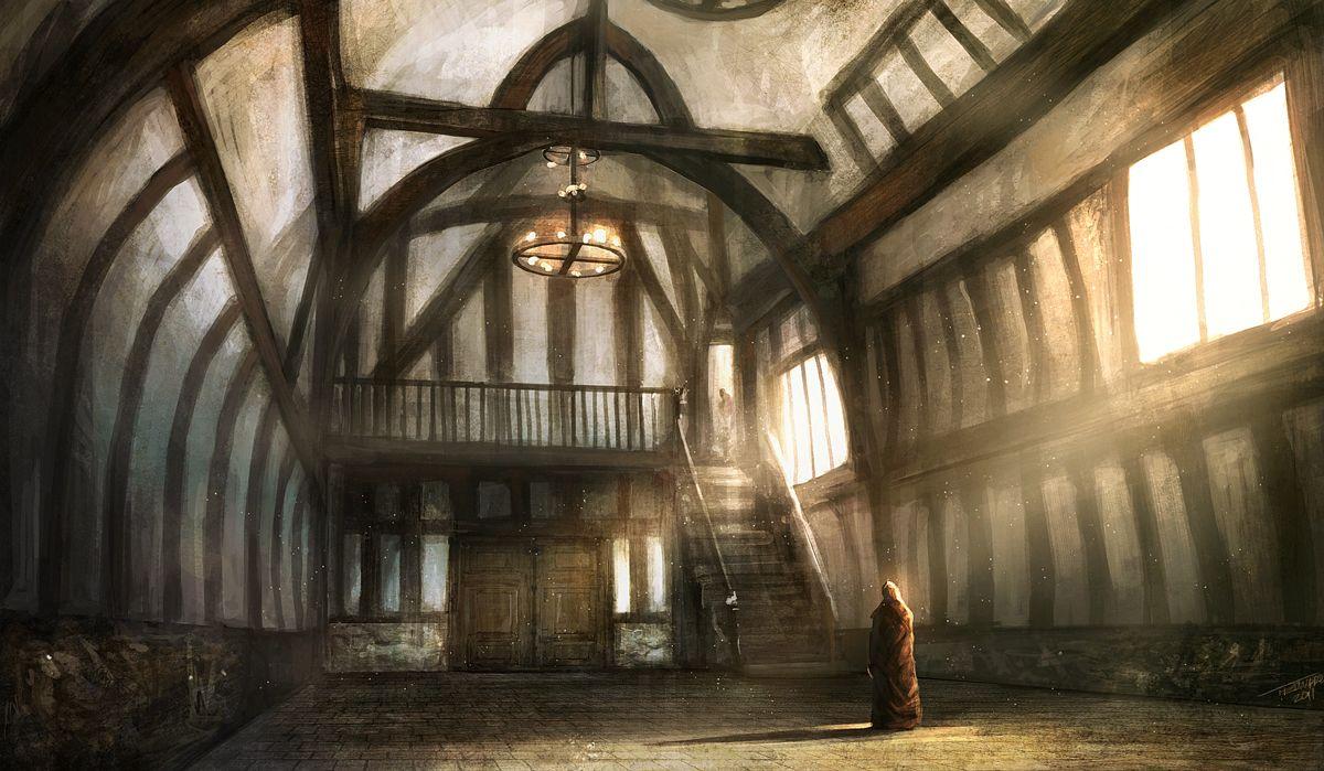 Tom Edwards Concepts Guild Hall Fantasy Concept Art Fantasy Landscape Fantasy Town