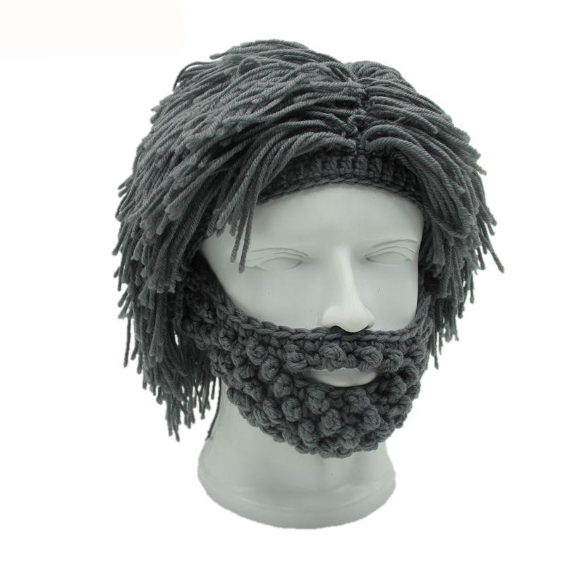 Wig Beard Knitted Warm Winter Cap Beanie  e1ba7fa6168