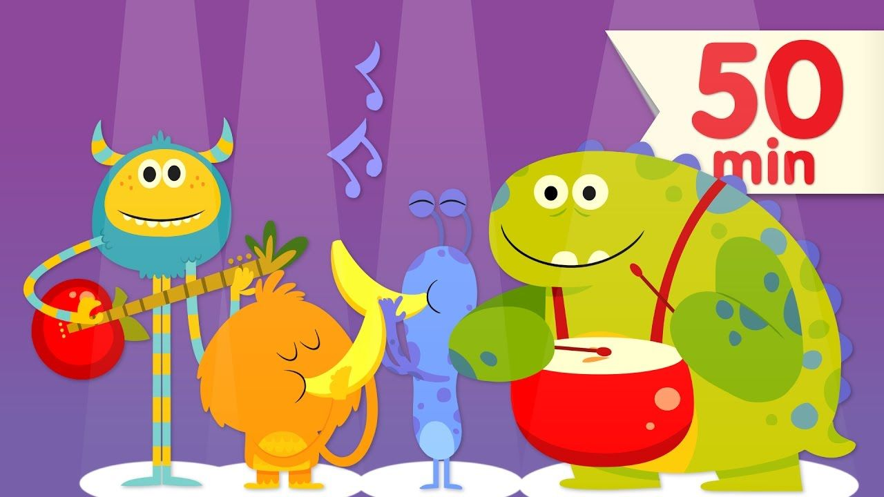 Join This Group Of Friendly Monster Singing Apples Bananas From Super Simple Songs Super Simple Songs Kids Songs Silly Songs