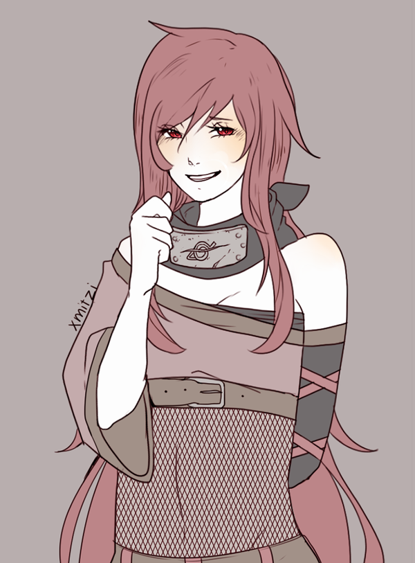 Kisa Sketch Red Hair Anime Characters Naruto Girls Naruto