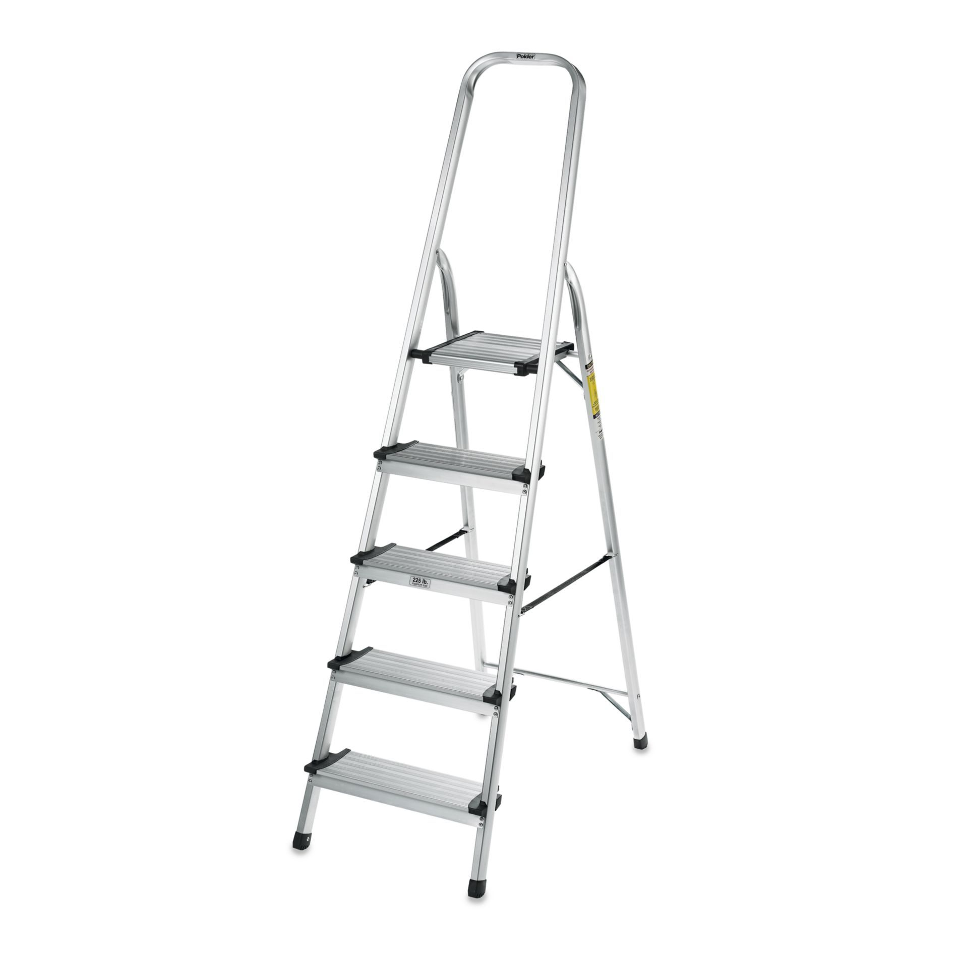 Polder 5 Step Ultra Light Step Ladder In Aluminum Step Lighting Step Ladders Polder