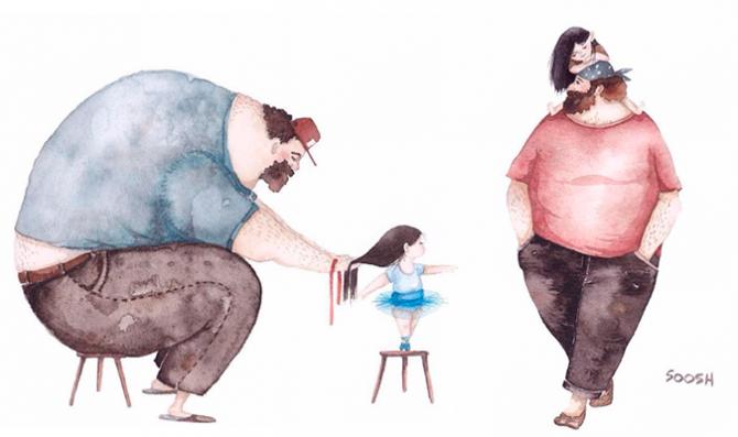 Mensagem De Filha Ou Filho Para Pai: Ilustrações Para Você Se Apaixonar