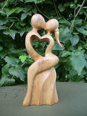 20 Cm Mann Frau Liebe Love Paar Herz Heart Holz Liebespaar