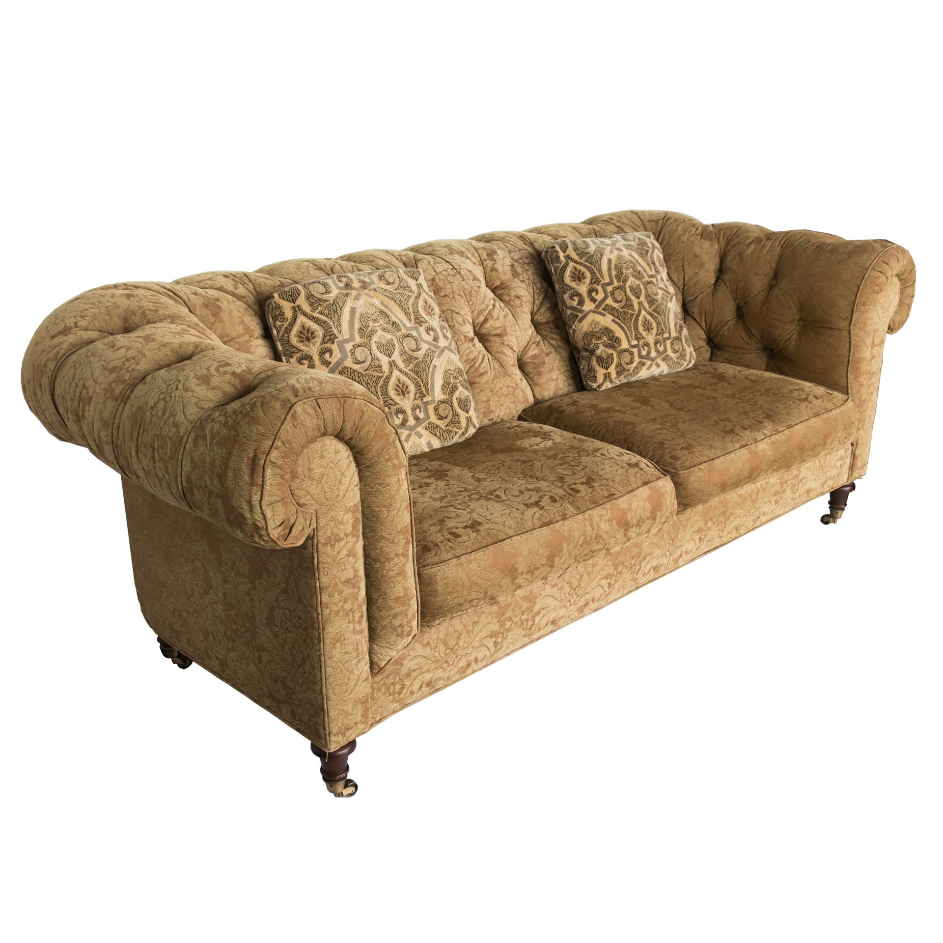 This Chesterfield Style Sofa From Lillian August Is Filled With A