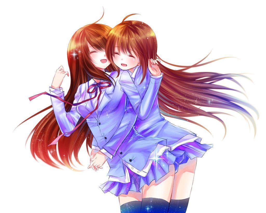 Anime best friend hugging gif Googlesøgning Nightcore