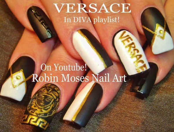 Robin moses nail art versace nails versace nail art gucci robin moses nail art versace nails versace nail prinsesfo Gallery