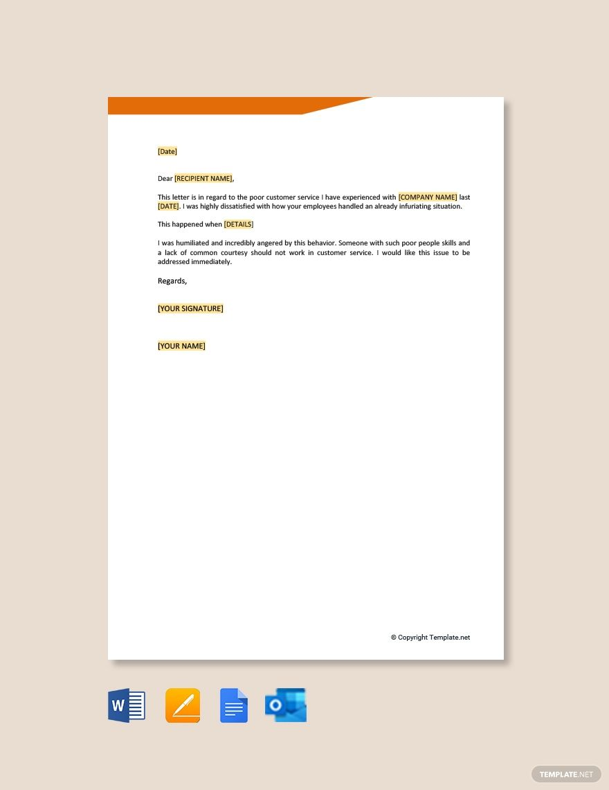41++ Complaint letter example for bad service inspirations