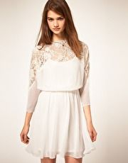 ASOS Dress with Lace Top