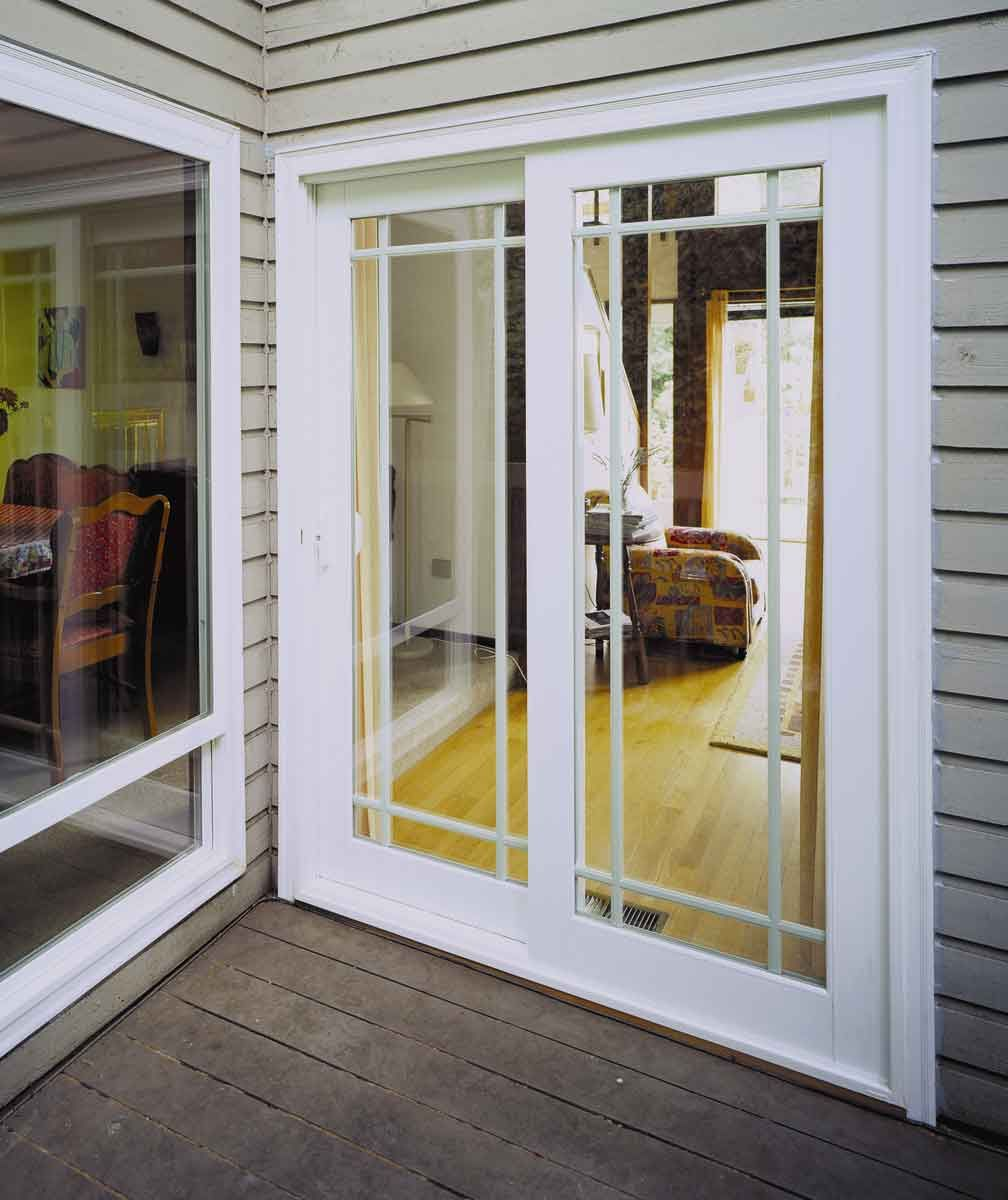 Exterior glass patio doors - 8 Sliding Glass Patio Doors Vinyl Sliding French Rail Patio Door
