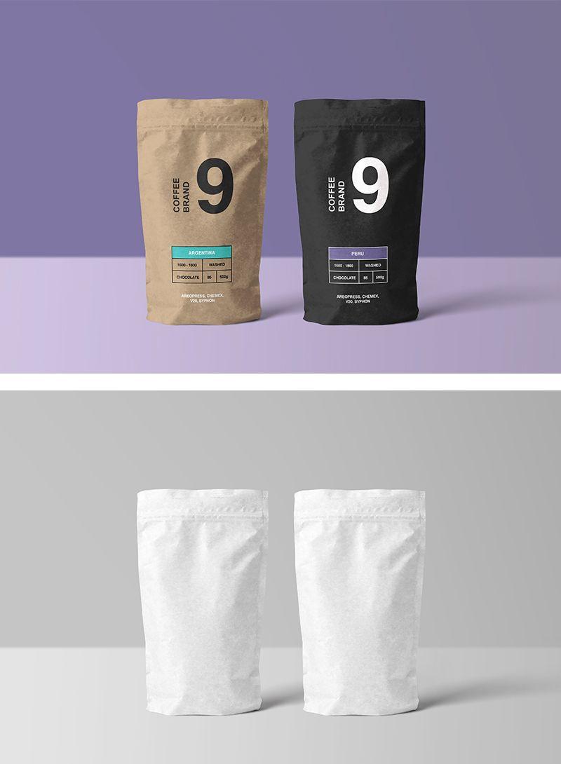 Download Paper Coffee Bag Mockup Mr Mockup Graphic Design Freebies Coffee Packaging Coffee Branding Bag Mockup