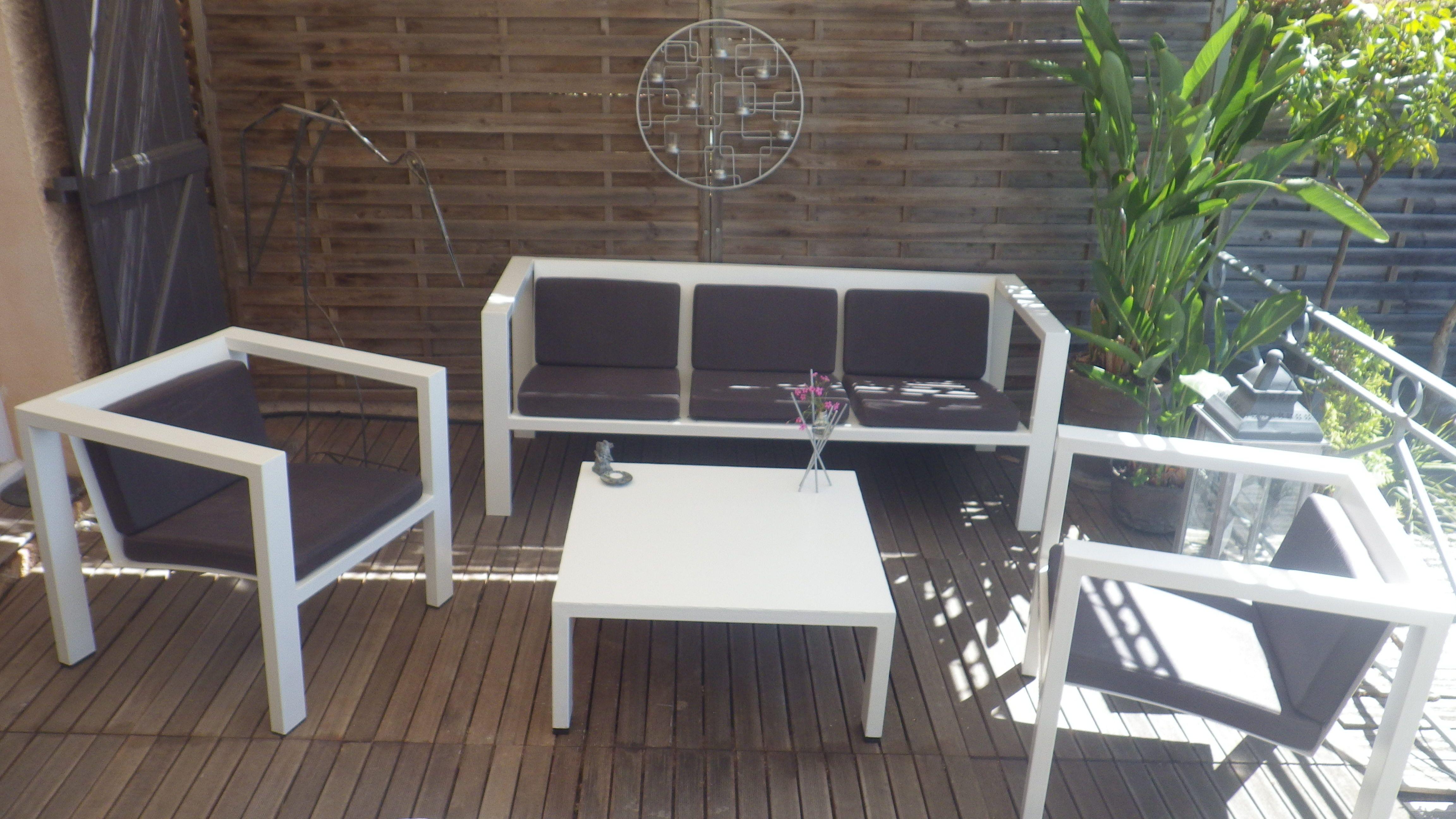 salon de jardin acier blanc designacier.com | Meubles design | Salon ...
