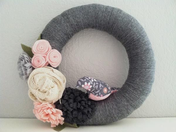 Yarn Wrapped Wreath c/o Oleander and Palm
