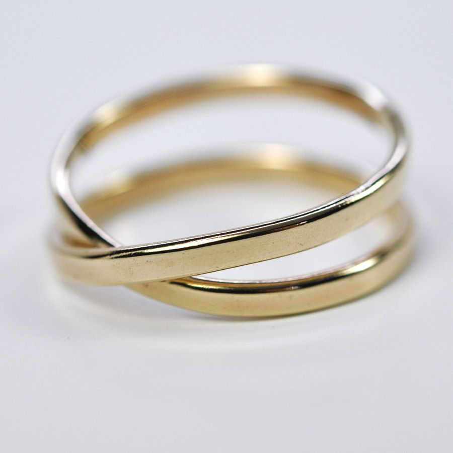 Solid gold infinity ring 14k yellow gold 2mm eternity ring solid gold infinity ring 14k yellow gold 2mm eternity ring symbolic love sea babe jewelry buycottarizona Choice Image