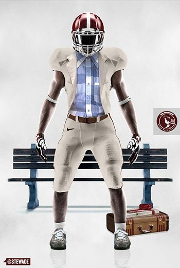 Forrest Gump #44 Alabama Football Jersey Movie Costume Uniform Forest University