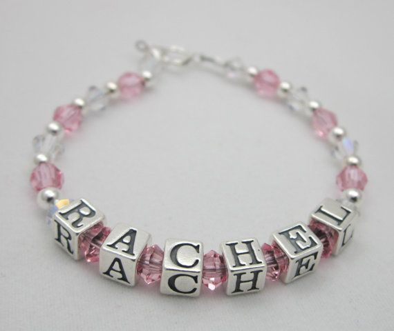 Personalized Name Baby Bracelet Sterling Silver And