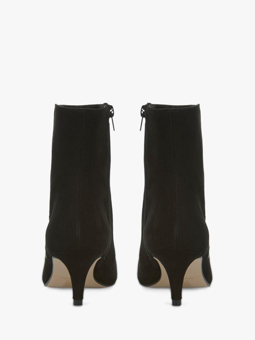 Mint Velvet Jodie Leather Kitten Heel Ankle Boots Black Kitten Heel Ankle Boots Black Ankle Boots Boots