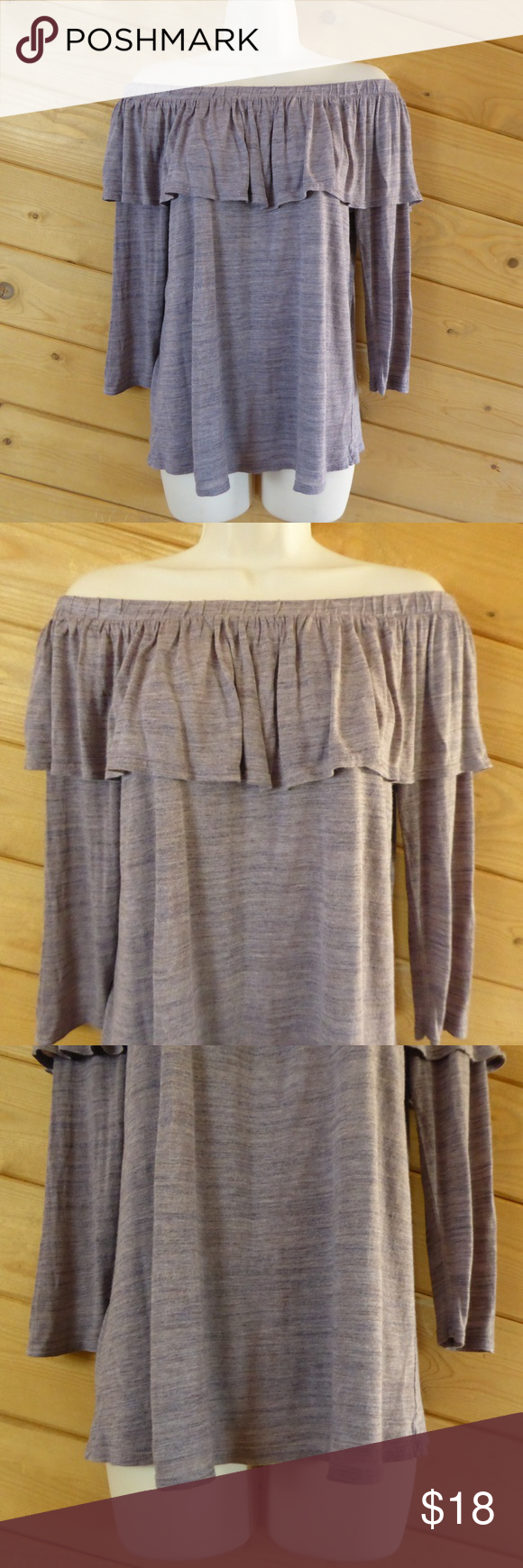 05e6c15e47ef3 Dolan Anthropologie Dolan Left Coast Collection Charla Off The Shoulder  Ruffle Top Size M 100% Modal - Hand Wash Cold Great Condition Measurements  (Laying ...