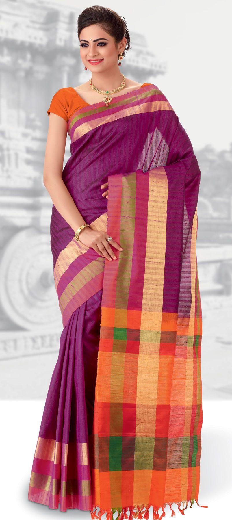 Pure silk saree  purple and violet color family printed sarees silk sarees