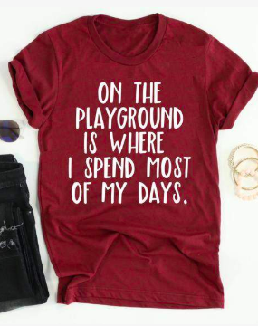 New Funny Mom This item is unavailable On the Playground is Where I spend most of my days // teacher shirt// Funny Mom Shirt // teacher life // Funny Teacher Shirt // Teacher gift, unique gift for mom, #ad 4