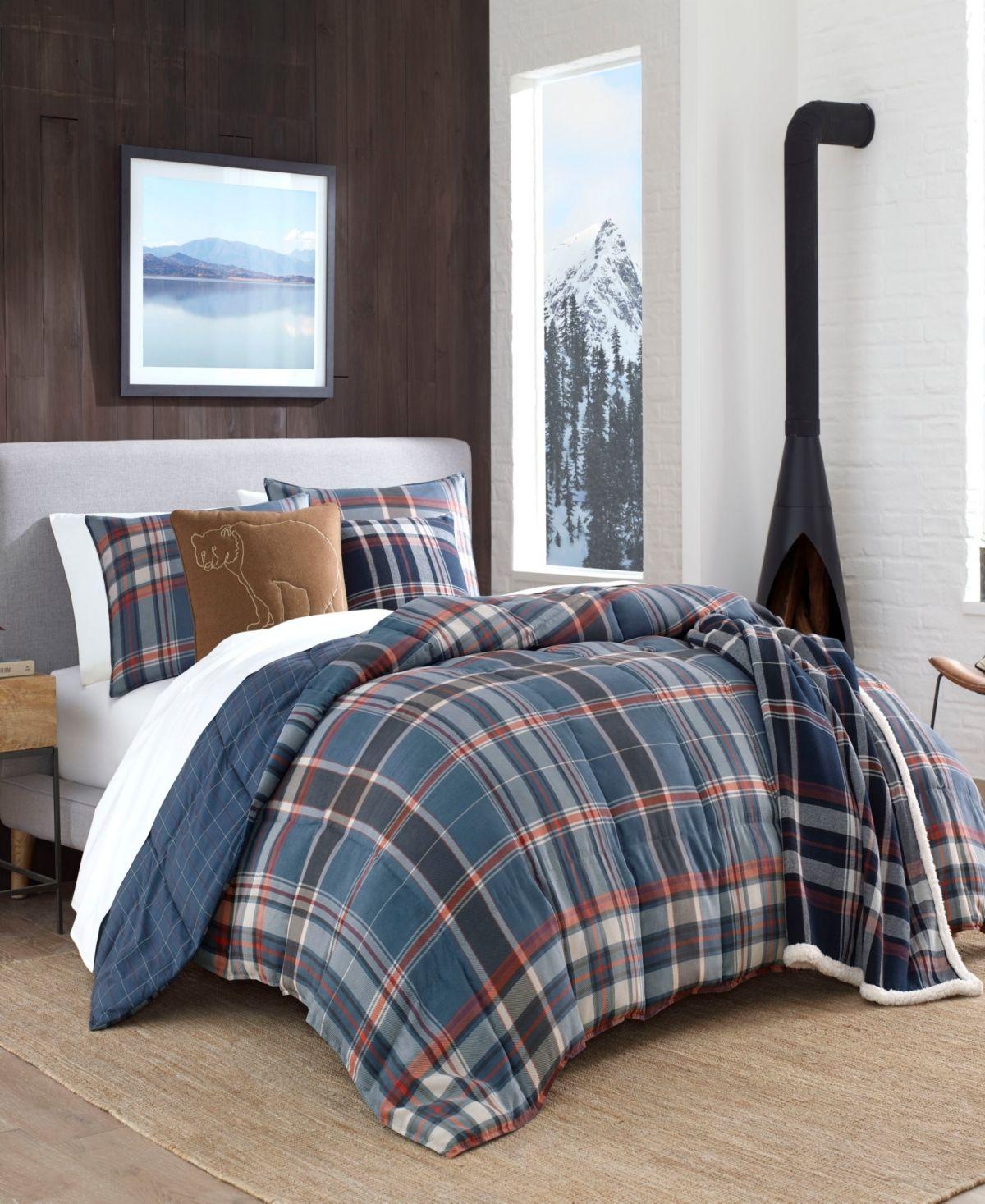 Eddie Bauer Shasta Lake Navy Comforter Set Full Queen Reviews