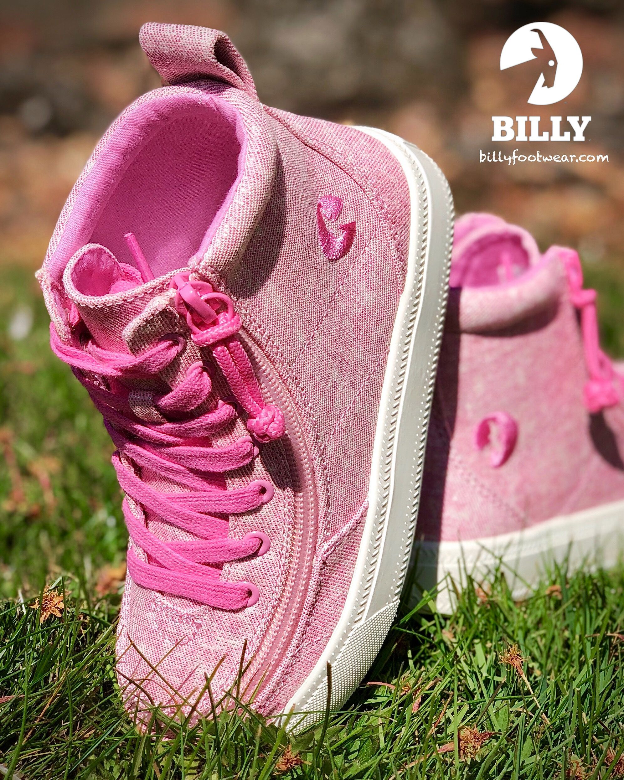 Billy Footwear High Top Pink Glitter