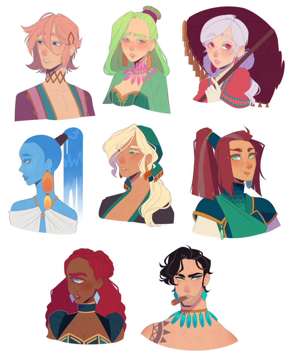 Here Have Some Characters By Looji On Deviantart Character Design Inspiration Fantasy Character Design Character Art