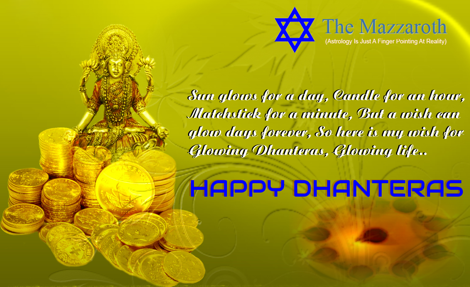 May Goddess Lakshmi bless you with good health & wealth on