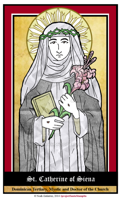 St Catherine Of Siena By Nowitzkitramonto Cados Pinterest