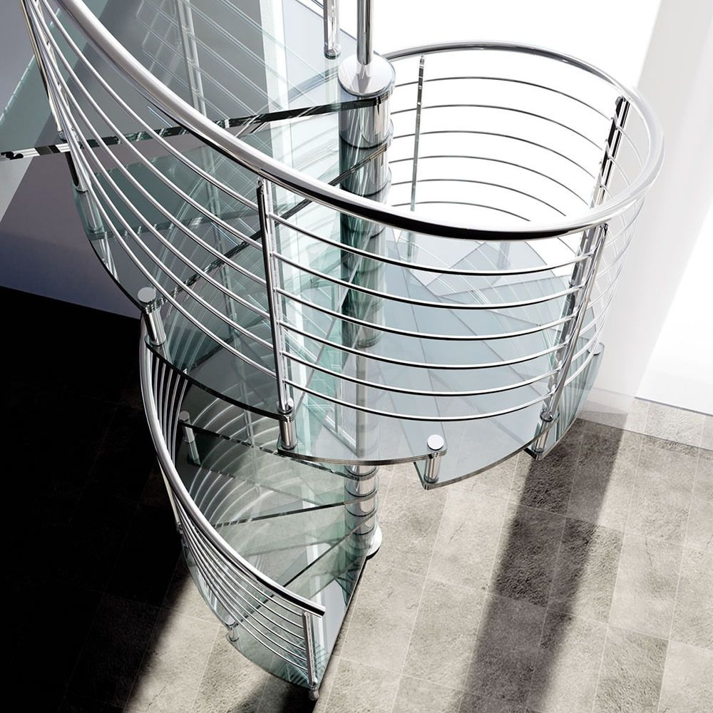 Best Glass Spiral Staircase Spiral Staircase Modern Glass Staircase Railing Design 400 x 300