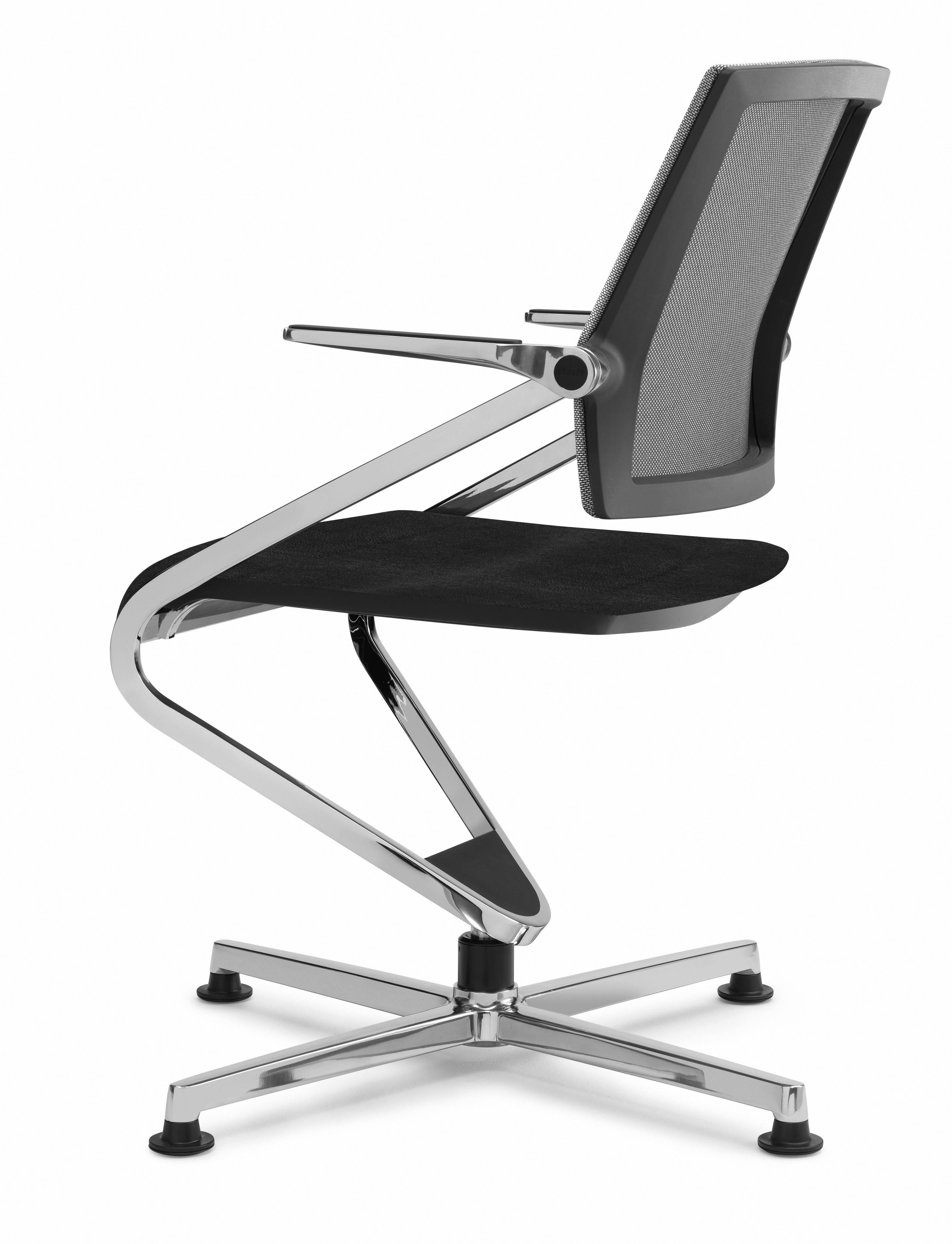 Sedere mesh backrest swivel conference chair with glides