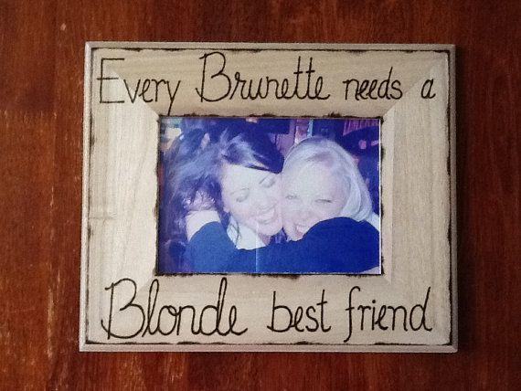 Blonde and Brunette Best Friend Frame by CreativeCraftsbyCC, $21.00 ...