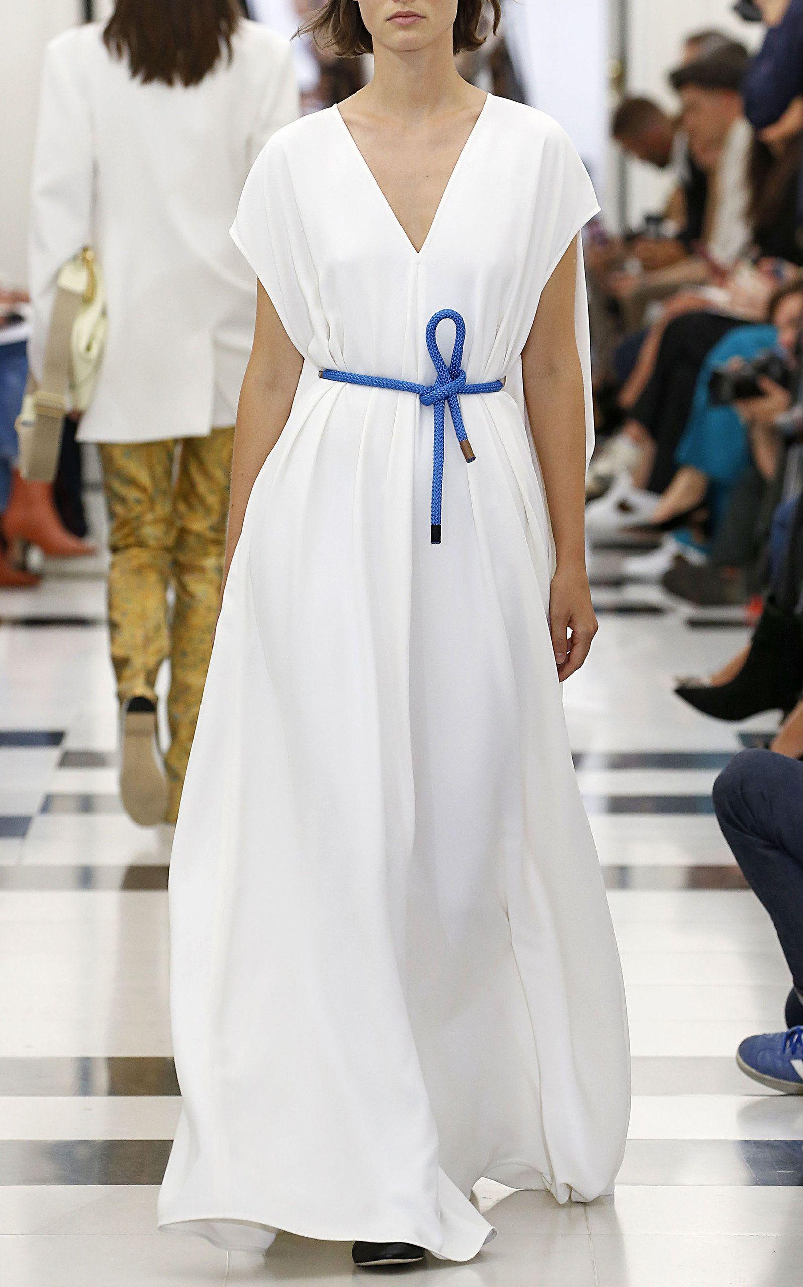 Belted Grain De Poudre Dress By Victoria Beckham For Preorder On Moda Operandi Victoria Beckham White Cotton Maxi Dress Victoria Beckham Collection [ 2560 x 1598 Pixel ]