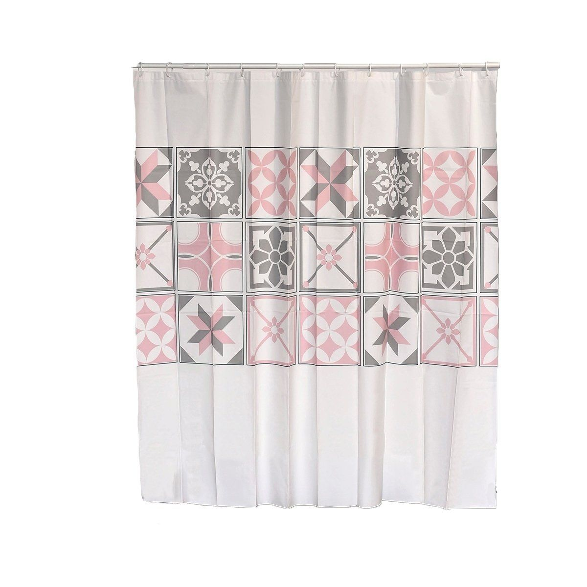 Collection Printed Peva Liner Shower Curtain Pink Evideco