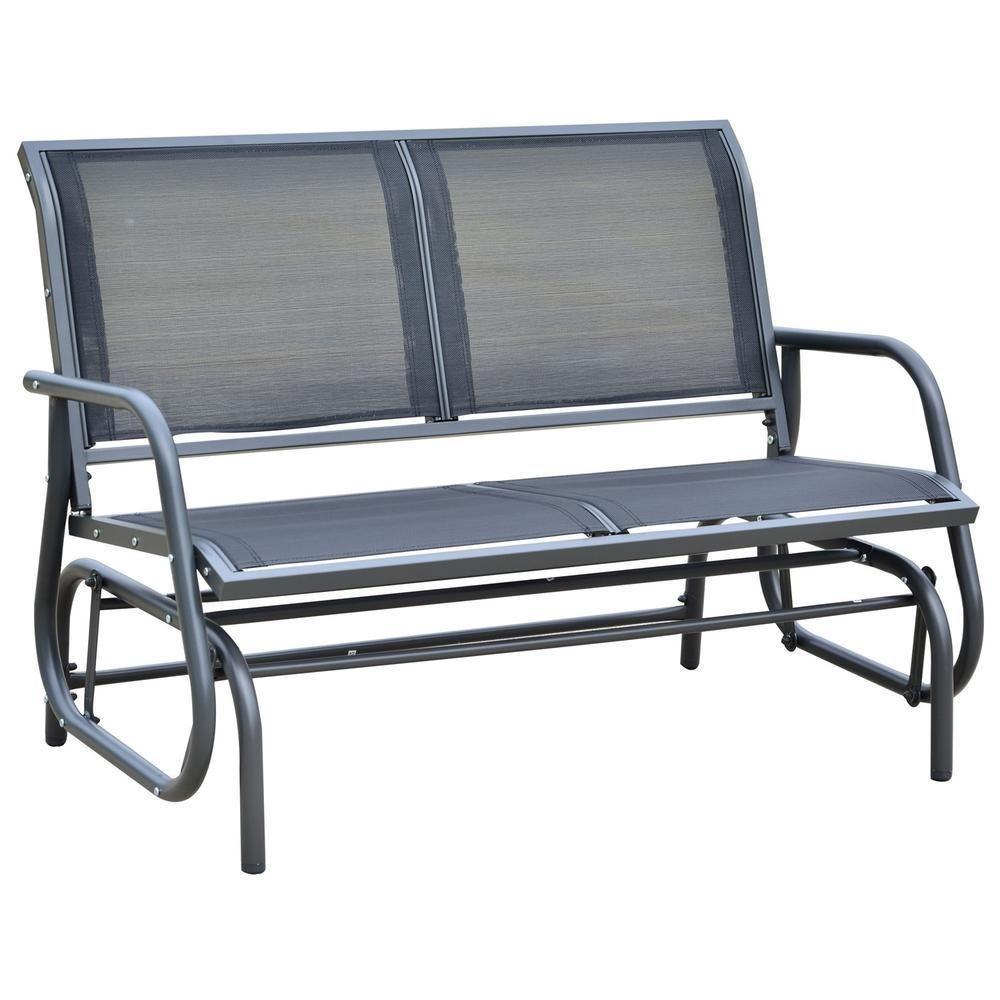 Fabulous Outdoor Loveseat Glider Rocker Patio Chair Porch Garden Creativecarmelina Interior Chair Design Creativecarmelinacom