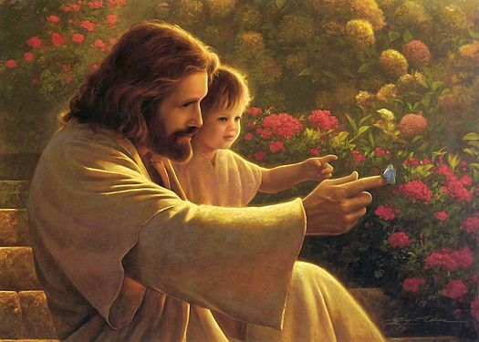 I have this painting. Greg Olsen is the artist. I had the opportunity of taking art instruction from Greg Olsen.