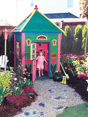 Garden Sheds For Kids barbara butler-extraordinary play structures for kids-garden
