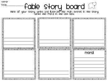 literacy activities graphic organizers fables folktales and fairy tales legends fables. Black Bedroom Furniture Sets. Home Design Ideas