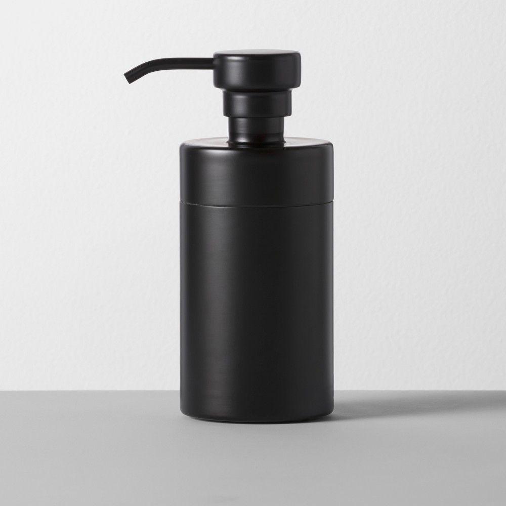 Badezimmer eitelkeiten mit oberen speicher solid soaplotion dispenser black  made by design in