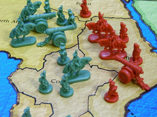 3D illustration of RISK gameplay. Board games, Classic